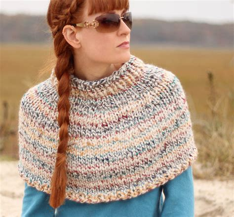 knitted cape pattern 25 beginner knitting projects