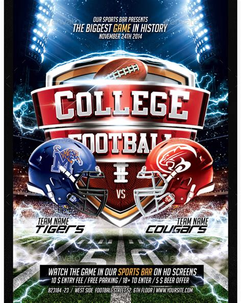 football flyer template college football flyer flyer templates for clubs