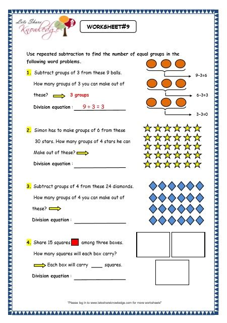 free printable division as repeated subtraction worksheets subtraction 187 repeated subtraction worksheets 2nd grade