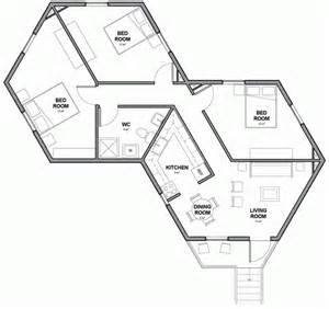 Hexagon Floor Plans by Architects For Society Designs Low Cost Hexagonal Shelters