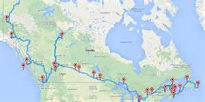 le roadtrip ultime 224 travers le canada selon un algorithme