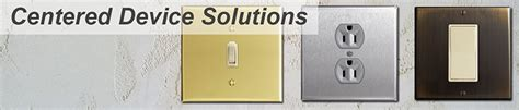 how to install centered light switch or outlet on 2 box