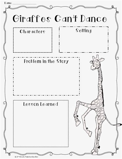 story dance themes 2nd grade snickerdoodles giraffes can t dance book chat