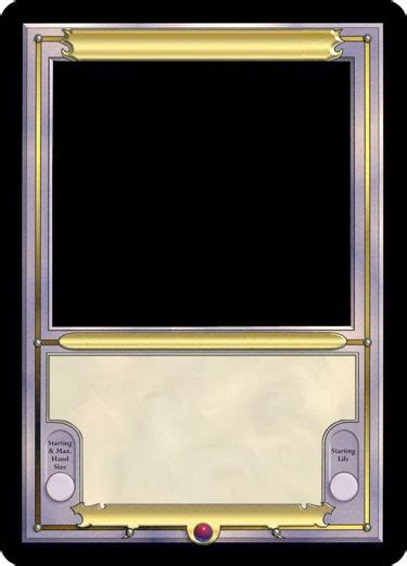 mtg card frame template request generic card frame for vanguard template