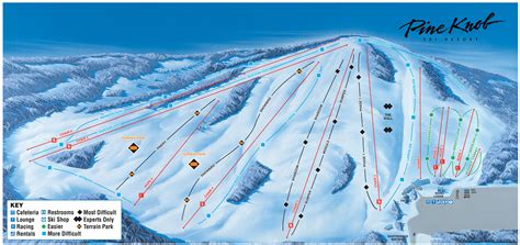 Pine Knob Ski Mi by Pine Knob Ski Resort Trail Map