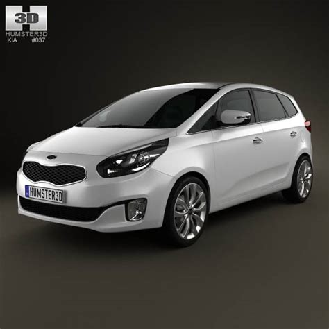 2013 Kia Carens Kia Carens Rondo 2013 3d Model Hum3d
