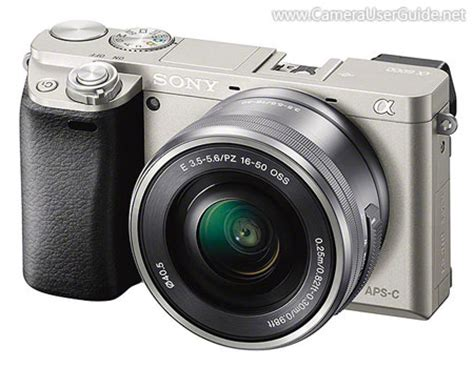 download sony alpha a6000 α6000 ilce 6000 pdf user manual