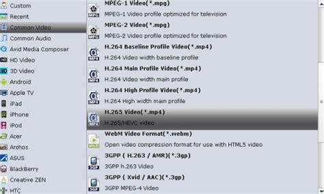 format video x264 convert h 264 xvid mp4 mkv avi flv xavc to h 265 mp4