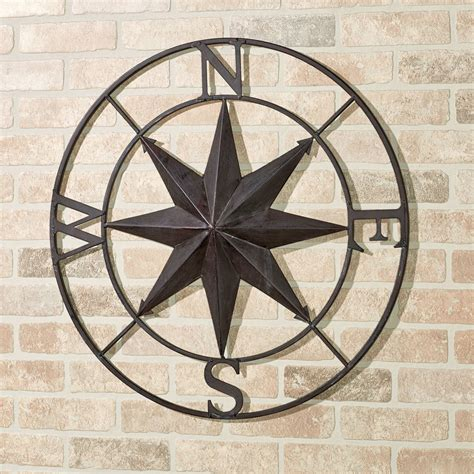 Compass Wall Decor by Earhart Indoor Outdoor Compass Wall