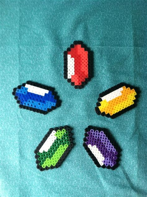 zelda rupee pattern zelda perler rupee pick your color 2 25 via etsy rage