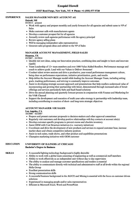 account executive resume sles sales account manager sales manager resume sles