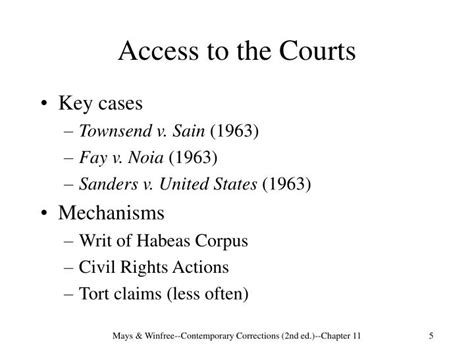 civil rights act section 1983 ppt chapter 11 correctional law and inmate litigation