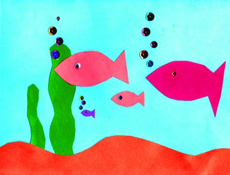 Cool Construction Paper Crafts - aquarium paper crafts