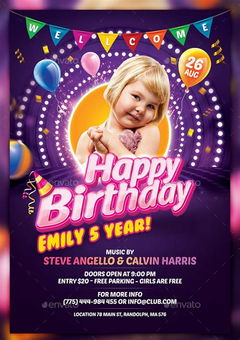 birthday flyer templates free birthday flyer templates 35 free psd ai vector eps format free premium templates