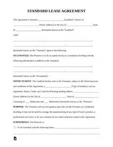 Free Standard Residential Lease Agreement Template Pdf Word Eforms Free Fillable Forms Standard Rental Agreement Template