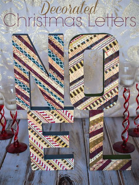 decorative christmas letters decorated letters in july upstate ramblings