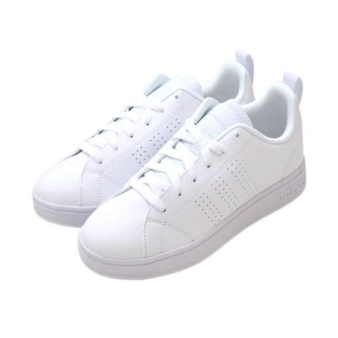 Harga Adidas Neo Putih jual adidas neo advantage clean mono white sneakers shoes