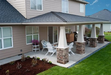 backyard concrete patio cost home design ideas