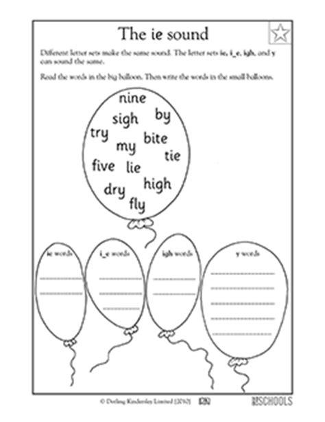 I E Worksheets by 1st Grade Kindergarten Reading Writing Worksheets Vowel