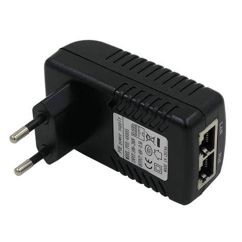 Adaptor Poe poe injector 48v 0 5a for ip ethernet cctv poe