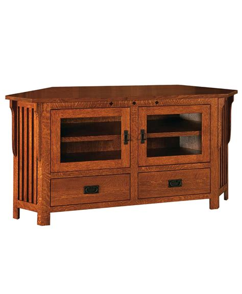 Corner Tv Stand With Drawers by Royal Mission 2 Door 2 Drawer Corner Tv Stand Amish