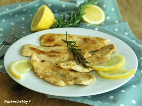 come cucinare il petto di pollo al limone scaloppine di pollo al limone e rosmarino passionecooking