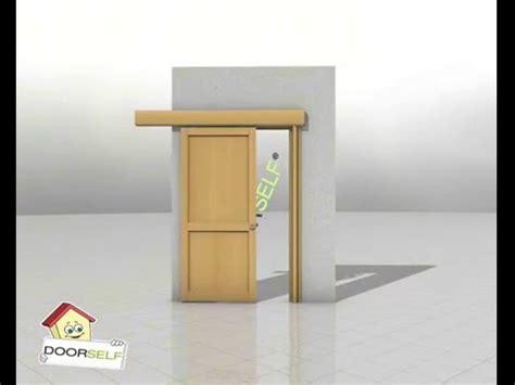 montare porta scorrevole porta scorrevole esterno muro montaggio