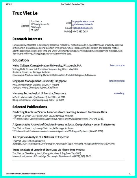 science resume exles data scientist resume objective baristas computer science