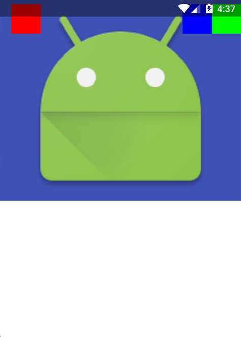 layout under android layout android toolbar under status bar in