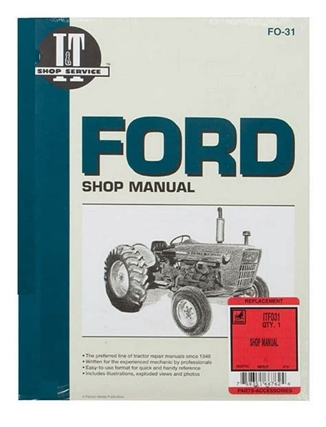 Shop Manual Ford 2000 3000 4000 Tractor Ebay