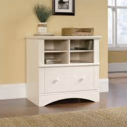 White Lateral Filing Cabinet 1 Drawer Lateral Wood File Cabinet In Antique White 158002