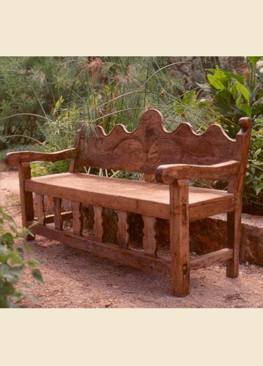 bench in latin hacienda style