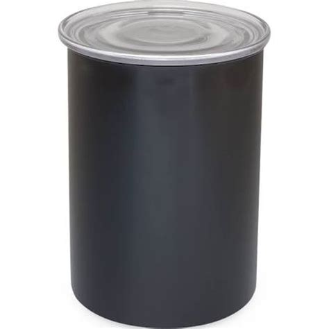 airscape kitchen canister airscape stainless obsidian black air tight canister 7 in