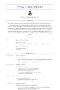 physical therapy resume template physical therapist resume sles visualcv resume