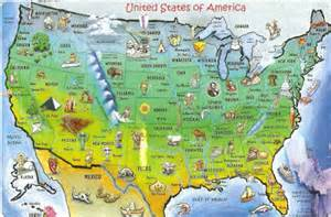 united states tourist map postcard a la carte united states country map