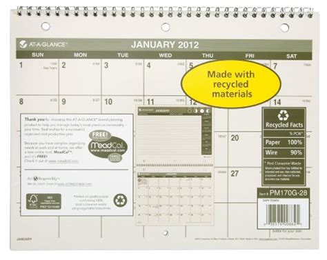 ataglance com desk calendars at a glance recycled yearly wall calendar large wall 2013