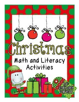 christmas math and literacy activities small group and