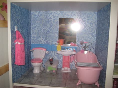 american girl doll bathroom mom brag american girl sized doll house toy car garage