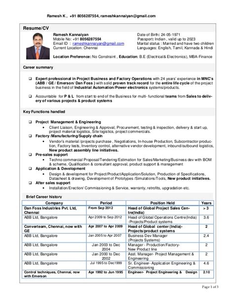 ramesh resume exe11 1