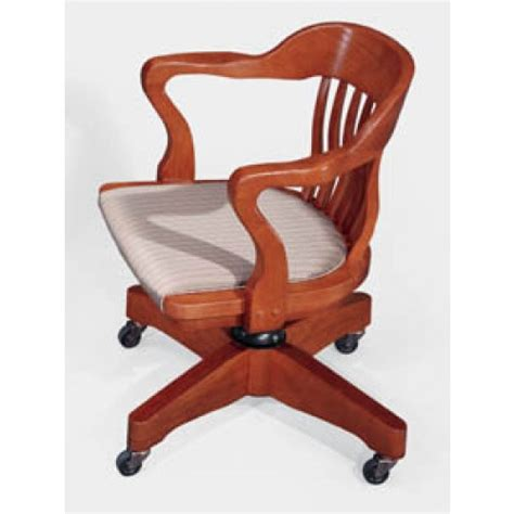 Jasper Community Boston Traditional Wood Office School Boston Swivel Chair