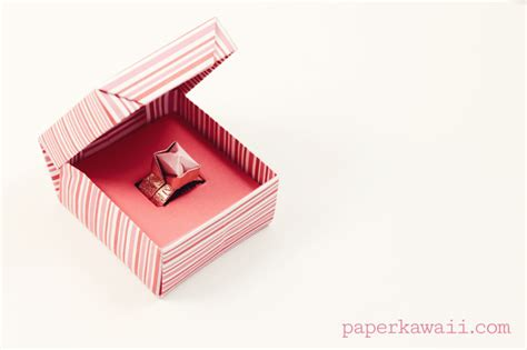 How To Make A Paper Ring Origami - origami ring box for s day paper kawaii