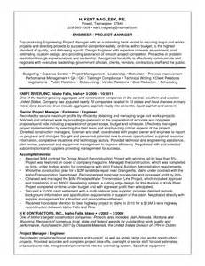 good resume sample of engineer project manager position