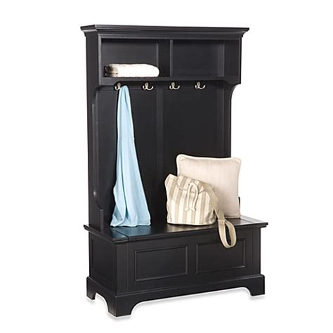 hall tree bench with storage buy home styles bedford hall tree and storage bench from