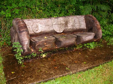 log bench seat file carved seat geograph org uk 509573 jpg