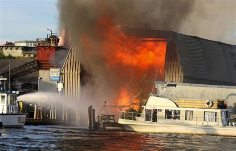 boat store seattle boat house in ballard engulfed in flames the seattle times