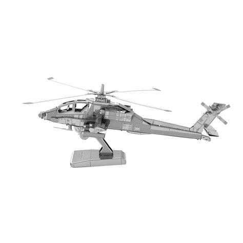 Helicopter Metal Model metal earth ah 64 apache 3d laser cut metal diy model