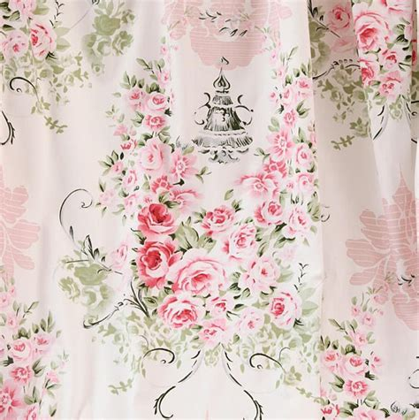 Cotton Floral Table Cloth 110x160cm Shabby Chic Taplak Meja Bunga B 100 Cotton Vintage Floral Roses Light Pink Twill Fabric
