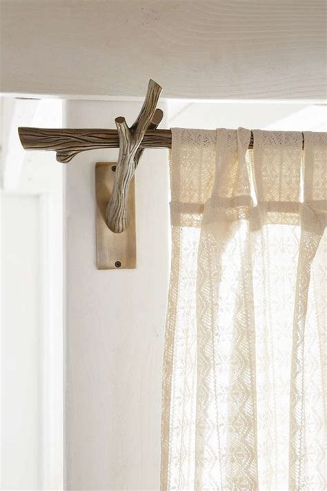 How To Make Beautiful Curtain Rods Out Of Tree Branches Curtain Rods For Nursery