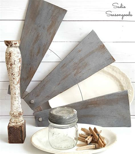 ceiling fan decors diy farmhouse style salvaged windmill decor from ceiling