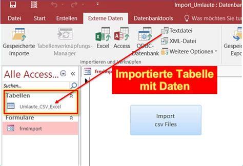 utf 8 tabelle access import datei auf utf 8 einstellen umlaute in